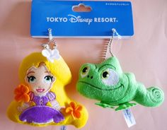 Tokyo Disneyland Disney princess Tangled Rapunzel Plush key chain badge Japan #Disney