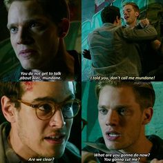 """#Shadowhunters 1x06 """"Of Men and Angels"""" - Jace and Simon"""