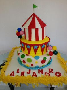 Circus cake by Dulce Galeria