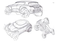Sketch made by A. Shamenkov - #Designer. Relive the #Design birth of the #Renault #Kwid #conceptcar. (c) Droits réservés Renault