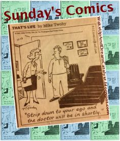 Here's a new series on my blog. Sunday's Comic Strips, poking fun at psychotherapy & psychology.