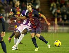 Mascherano, FC Barcelona.   Valladolid 1-3 FC Barcelona. [22.12.12]