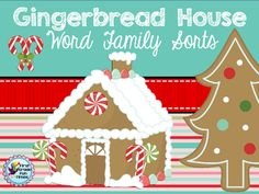 Holiday Word Families - Holiday Word Families.  A GIVEAWAY promotion for Christmas Word Families with Gingerbread Houses from First Grade Fun Times on TeachersNotebook.com (ends on 11-26-2014)