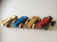 Racing cars in a variety of colours
