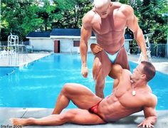Muscled couple