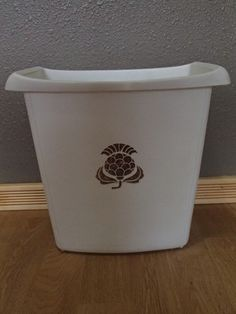Retro 1960 Waste Basket Classic Design Gold on by TheFreckledBerry