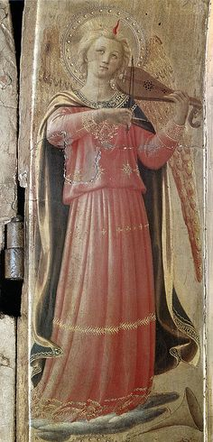Fra Angelico, Open Tabernacle of Linaioli (San Marco, 1433, det. of Angel with Violin) by Ark in Time, via Flickr