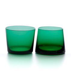 love these Avva Green Glass Tumblers Whiskey Glasses Clear Glass, Glass Art, Glass Crystal, Whisky Tumbler, Jewel Tone Colors, Kitchenware, Tableware, Whiskey Glasses, Barware