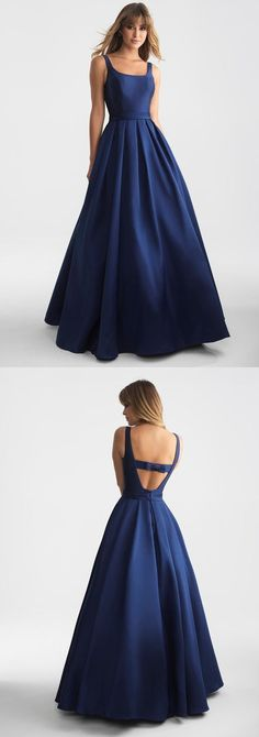 navy blue long prom dress graduation dress,  long prom dress formal evening dress by ainiprom, $128.75 USD