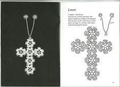 "Lovely tatted cross ""Laura"""