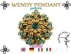 WENDY PENDANT pattern with Crescent beads and di PearlyBeadDesign