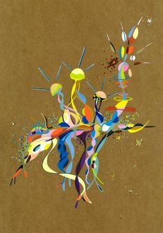 2018-041, par Dominique Vial.  #dessin #art #abstrait #faitMain #2018 #drawing #dessin #colors #couleurs #molotow #marker #marqueur #abstract #artabstrait #abstractart #kraft #acrylic #acrylique