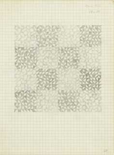 Anni Albers, Drawing from a notebook, 1972  Pencil on paper. JAAF: 1994.10.128  25.4 x 19.685 cm (10 x 7.75 inches)  The Josef and Anni Albers Foundation, Bethany, Connecticut