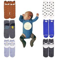 f5ac773bac263 Amazon.com  October Elf Unisex Baby Knee High Stockings Tube Socks 6 Pairs   Clothing