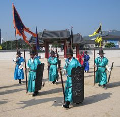 Change of Guards in Changdeokgung 창덕궁 , 昌德宮, Seoul