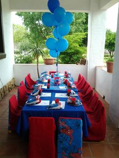 Spiderman Birthday Party Table #spiderman #birthday