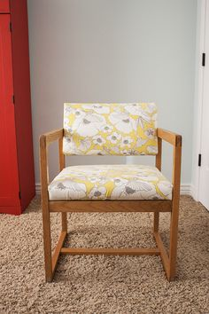 DIY reupholstered chairs