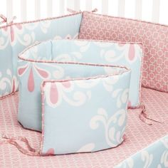 Castle Hill teal, pink Kitts 4pc Bumper