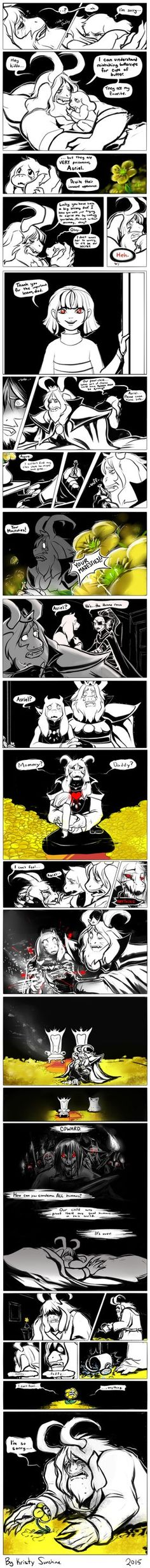 My take on maybe why asgore did what he did. Just a character study that once it got into my head, I had to draw it out. If you post this somewhere please credit properly.