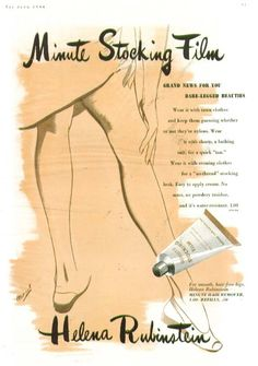 Leg make-up by Helena Rubenstein // Tuppence Ha'penny: A Brief History of Stockings
