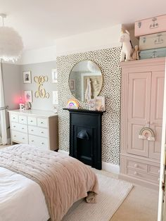 It's official, I have a new favourite room in the house & now it's finished I can safely say it's probably been the most fun… Coastal Master Bedroom, Dream Bedroom, Home Bedroom, Big Girl Bedrooms, Kids Bedroom Girls, Girls Pink Bedroom Ideas, Kids Bedroom Ideas, Childrens Bedrooms Girls, Preteen Bedroom