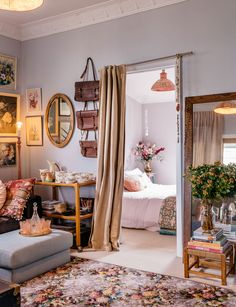 This little country cottage has the sweetest floral style