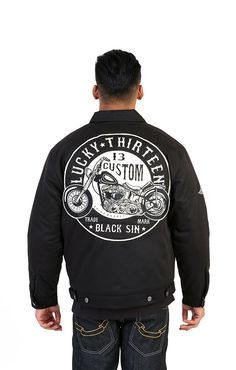http://www.coolhotfashion.com/Lucky-13-black-sin-mens-lined-jacket-Tattoo-biker-p/4004.htm