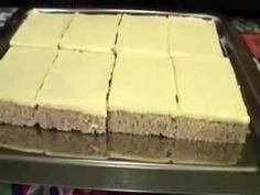 (1) Ořechové žloutkové řezy - recept na ořechovo-žloutkový koláč - YouTube Cheesecake, Youtube, Desserts, Food, Cookies, Tailgate Desserts, Deserts, Cheesecakes, Essen