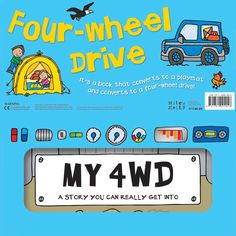 Convertible Four-wheel Drive – large play mat book – Miles Kelly