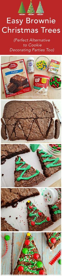 How to make these adorable Christmas Tree Brownies! I love this treat idea. You could make from scratch or buy a pan of store-bought for a shortcut. Either way, a fun holiday themed treat and even a great cookie decorating alternative. FUN!!