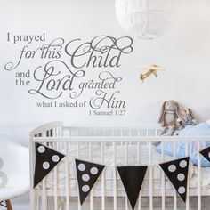 Christian Wall Quotes and Bible Verse Decals For Home and Church Family Love Nursery Decal Baby Nursery Wall Art
