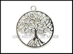 Breloque arbre de vie - UNE HISTOIRE DE MODE Pocket Watch, Creations, Diy, Accessories, Fashion, Tree Of Life, Creative Crafts, Rhinestones, Pendant