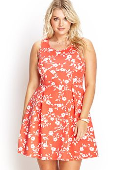 Floral Scuba Knit Dress | FOREVER21 #F21Plus