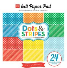 Echo Park - Dots and Stripes Collection - Summer - 8 x 8 Paper Pad at Scrapbook.com