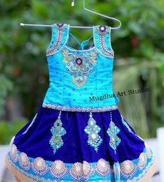 For every Southern girl, is the first auspicious occassion. Celebrating the grandeur of such an event is called a African Dresses For Kids, Dresses Kids Girl, Kids Outfits, Baby Dresses, Indian Dresses, Kids Dress Wear, Kids Gown, Kids Wear, Children Wear