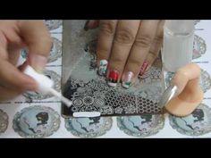 Técnicas de Nail Art - Espelho de Natal