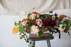 Autumnal Floral Centerpiece Designed By BRRCH