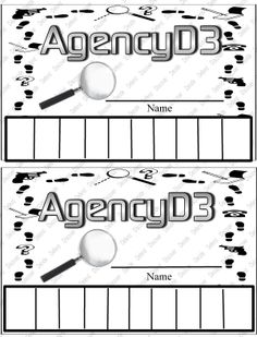 Agency D3 fingerprint card I saw something like it on Pinterest, but wanted the Agency D3!