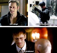 eric northman being a goofy human - true blood