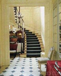 painted runner curved staircase - Google Search
