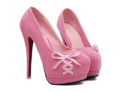 Sweet Women's Pumps With Lace-Up and Round Toe Design (PINK) | Sammydress.com