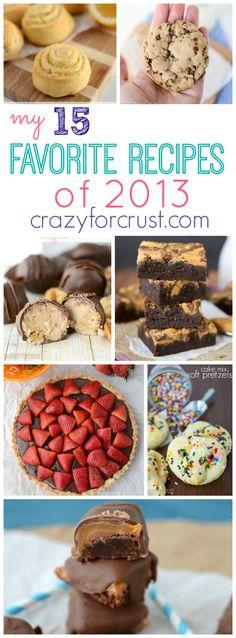 15 Favorite Recipes 2013 at crazyforcrust.com