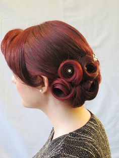 vintage pin curls - Google Search