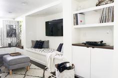 Scandinavian Inspired Basement Remodel with lots of Built-Ins