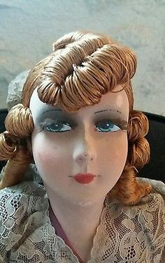 Poupée de salon ancienne boudoir doll old doll 1920-1930 art déco
