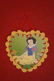 crochet Disney card Snow white