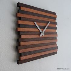 Clock Wall Hanging  Reclaimed Wood Modern Decor Contemporary. $84.00, via Etsy.