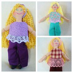 Toy Dress Up Doll - Handmade Blonde Dolls by JoellesDolls on Etsy