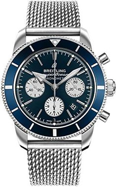 Buy Breitling Superocean Heritage II Watches, authentic at discount prices. All current Breitling styles available. Breitling Superocean Heritage, Breitling Navitimer, Omega Seamaster, Omega Speedmaster Moonwatch, Best Watches For Men, Cool Watches, Casual Watches, Swagg Man, Bracelets Bleus