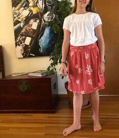 Tuto jupe jersey facile tutoriel couture sans patron patron gratuit pas-à-pas mars-elle Diy Vetement, Midi Skirt, Bio, Mars, Skirts, Simple, Sewing, Fashion, Poplin